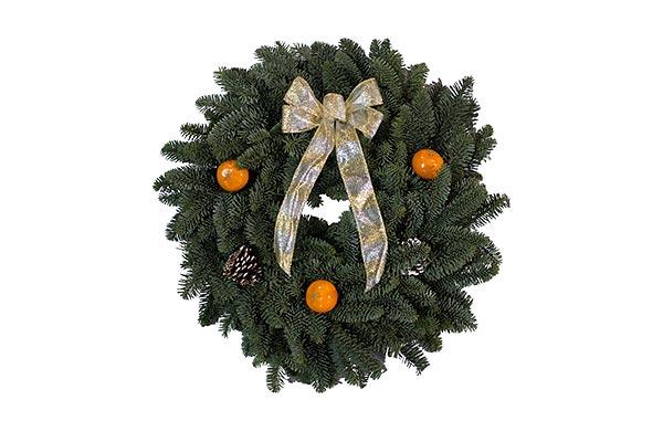 22 in Orange Wreath