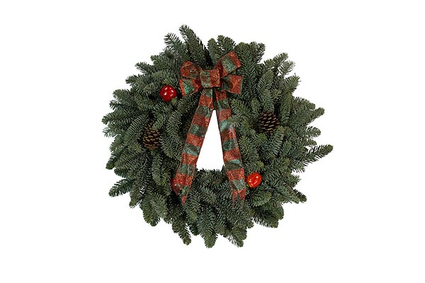 22 in Red Bow Wreath